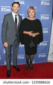 LOS ANGELES - NOV 19:  Hugh Jackman, Deborra-lee Furness at the SBIFF Kirk Douglas Award Honoring Hugh Jackman at the RItz Carlton Bacara on November 19, 2018 in Santa Barbara, CA