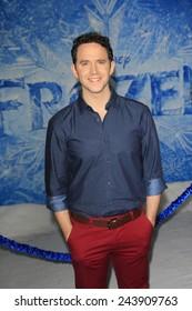 LOS ANGELES - NOV 19: Santino Fontana at the premiere of Walt Disney Animation Studios' 'Frozen' at the El Capitan Theater on November 19, 2013 in Los Angeles, CA