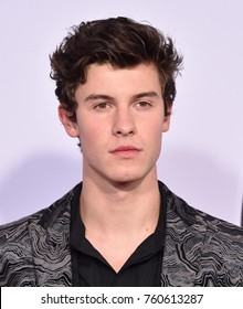 LOS ANGELES - NOV 19:  Shawn Mendes arrives for the 2017 American Music Awards on November 19, 2017 in Los Angeles, CA