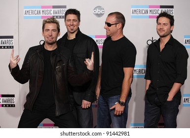 LOS ANGELES - NOV 20:  Nickelback arrives to the American Music Awards 2011  on November 20, 2011 in Los Angeles, CA