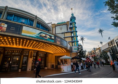 Los Angeles, NOV 27: Afternoon view of the theatre in the Grove on NOV 27, 2018 at Los Angeles, California