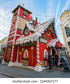 Los Angeles, NOV 27: Afternoon view of the Santa House in the Grove on NOV 27, 2018 at Los Angeles, California