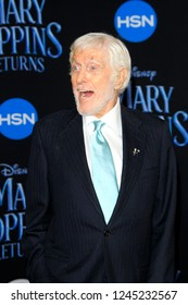 "LOS ANGELES - NOV 29:  Dick Van Dyke at the ""Mary Poppins Returns"" Premiere at the El Capitan Theatre on November 29, 2018 in Los Angeles, CA"