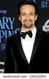 "LOS ANGELES - NOV 29:  Lin-Manuel Miranda at the ""Mary Poppins Returns"" Premiere at the El Capitan Theatre on November 29, 2018 in Los Angeles, CA"
