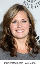 """LOS ANGELES - NOV 29:  Maggie Lawson arrives at """"Psych:  A Twin Peaks Gathering"""" at Paley Center for Media on November 29, 2010 in Beverly Hills, CA"""
