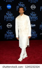 "LOS ANGELES - NOV 29:  Utkarsh Ambudkar at the ""Mary Poppins Returns"" Premiere at the El Capitan Theatre on November 29, 2018 in Los Angeles, CA"