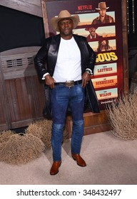 """LOS ANGELES - NOV 30:  Terry Crews arrives to the """"The Ridiculous 6"""" Los Angeles Premiere  on November 30, 2015 in Universal City, CA."""