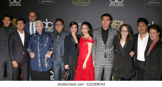 """LOS ANGELES - NOV 4:  """"Crazy Rich Asians"""" cast at the Hollywood Film Awards 2018 at the Beverly Hilton Hotel on November 4, 2018 in Beverly Hills, CA"""