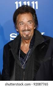 LOS ANGELES - NOV 6:  Al Pacino arrives at the Jack and Jill Premiere at Regency Village Theatre on November 6, 2011 in Westwood, CA