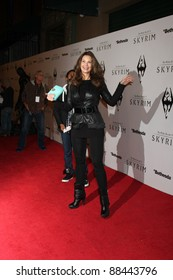 LOS ANGELES - NOV 8:  Lynda Carter arrives at the SKYRIM Launch Event at Belasco Theater on November 8, 2011 in Los Angeles, CA