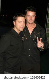 LOS ANGELES - NOVEMBER 08: Lance Bass and Reichen Lehmkuhl at the 16th Annual Environmental Media Association Awards at Wilshire Ebell Theatre November 08, 2006 in Los Angeles