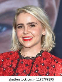 """LOS ANGELES - OCT 01:  Mae Whitman arrives to the """"Venom"""" World Premiere  on October 1, 2018 in Hollywood, CA"""