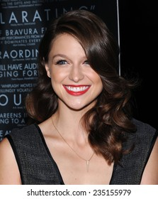 """LOS ANGELES - OCT 06:  Melissa Benoist arrives to the """"Whiplash"""" Los Angeles Premiere on October 6, 2014 in Los Angeles, CA"""