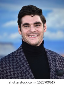 "LOS ANGELES - OCT 07:  RJ Mitte arrives to the Netflix premiere of ""El Camino: A Breaking Bad Movie"" Premiere  on OCT 07, 2019 in Hollywood, CA"