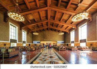 Los Angeles, OCT 1: The historical union station on OCT 1, 2014 at Los Angeles
