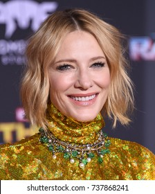 """LOS ANGELES - OCT 10:  Cate Blanchett arrives for the """"Thor: Ragnarok"""" World Premiere on October 10, 2017 in Hollywood, CA"""