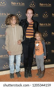 LOS ANGELES - OCT 10: Kendra Wilkinson, Hank Baskett IV, Alijah Mary Baskett at the Nights Of The Jack Halloween Activation Launch Party at the King Gillette Ranch on October 10, 2018 in Calabasas, CA