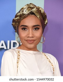 LOS ANGELES - OCT 10:  Yuna arrives for the 2019 amFAR Gala on October 10, 2019 in Hollywood, CA