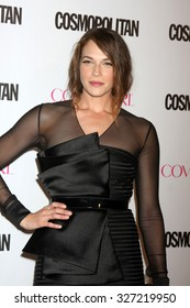 LOS ANGELES - OCT 12:  Amanda Righetti at the Cosmopolitan Magazine's 50th Anniversary Party at the Ysabel on October 12, 2015 in Los Angeles, CA
