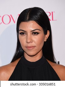LOS ANGELES - OCT 13:  Kourtney Kardashian arrives to the Cosmopolitan's 50th Birthday Party on October 13, 2015 in Hollywood, CA.