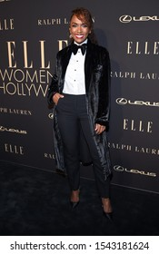 LOS ANGELES - OCT 14:  Janet Mock arrives for the ELLE Women in Hollywood on October 14, 2019 in Westwood, CA