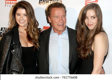 """LOS ANGELES - OCT 14:  Katherine, Arnold Schwarzenegger, Christina Schwarzenegger at the """"Killing Gunther"""" LA Special Screening at the TCL Chinese 6 Theater on October 14, 2017 in Los Angeles, CA"""