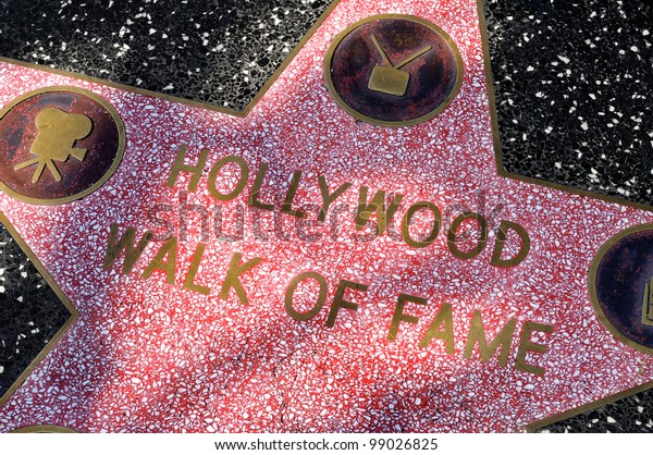 LOS ANGELES - OCT 15: Star of Hollywood Walk of Fame on October 15, 2011 in Los Angeles. There are more than 2,400 five-pointed stars which attract about 10 million visitors annually.