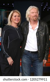 LOS ANGELES - OCT 16:  Joan Templeman Branson, Sir Richard Branson at the Sir Richard Branson Star Ceremony on the Hollywood Walk of Fame on October 16, 2018 in Los Angeles, CA
