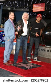 LOS ANGELES - OCT 16:  Lance Bass, Sir RIchard Branson, Ben Harper at the Sir Richard Branson Star Ceremony on the Hollywood Walk of Fame on October 16, 2018 in Los Angeles, CA