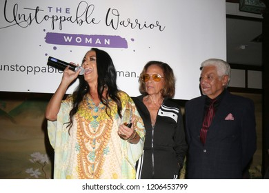 LOS ANGELES - OCT 16:  Sheila E, Juanita  Escovedo, Pete Escovedo at the Women Empowering Women - The Unstoppable Warrior at the Yamashiro Hollywood on October 16, 2018 in Los Angeles, CA