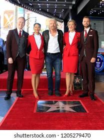 LOS ANGELES - OCT 16:  Sir RIchard Branson, VIrigin Airlines staff at the Sir Richard Branson Star Ceremony on the Hollywood Walk of Fame on October 16, 2018 in Los Angeles, CA