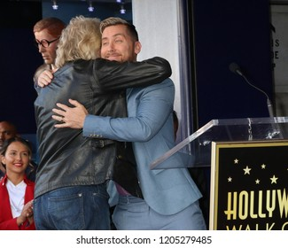 LOS ANGELES - OCT 16:  Sir RIchard Branson, Lance Bass at the Sir Richard Branson Star Ceremony on the Hollywood Walk of Fame on October 16, 2018 in Los Angeles, CA