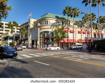 LOS ANGELES, OCT 1ST 2016: The American Girl Place store, an upscale doll boutique focusing on toys for girls, at The Grove in Los Angeles. The Grove is a retail complex frequented by celebrities.