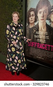 "LOS ANGELES - OCT 20:  Meryl Streep at the ""Suffragette"" LA Premiere at the Samuel Goldwyn Theater on October 20, 2015 in Beverly Hills, CA"