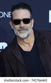 "LOS ANGELES - OCT 22:  Jeffrey Dean Morgan at the ""The Walking Dead"" 100th Episode Celebration at the Greek Theater on October 22, 2017 in Los Angeles, CA"