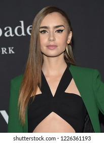 LOS ANGELES - OCT 22:  Lily Collins arrives to the 'InStyle Awards' 2018  on October 22, 2018 in Hollywood, CA