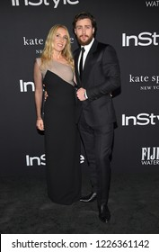 LOS ANGELES - OCT 22:  Sam Taylor-Johnson and Aaron Taylor-Johnson arrives to the 'InStyle Awards' 2018  on October 22, 2018 in Hollywood, CA