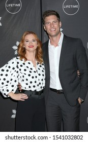 "LOS ANGELES - OCT 22:  Sarah Drew, Ryan McPartlin at the ""It's A Wonderful Lifetime"" Holiday Party at the STK Los Angeles on October 22, 2019 in Westwood, CA"