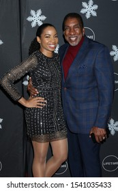 "LOS ANGELES - OCT 22:  Sashani Nichole, Ernie Hudson at the ""It's A Wonderful Lifetime"" Holiday Party at the STK Los Angeles on October 22, 2019 in Westwood, CA"