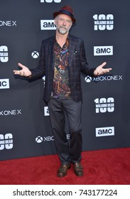 LOS ANGELES - OCT 22:  Xander Berkeley arrives for the 'The Walking Dead' Season 8 Premiere on October 22, 2017 in Hollywood, CA