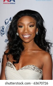 LOS ANGELES - OCT 23:  Brandy Norwood arrives at the 2010 Carousel of Hope Ball at Beverly Hilton Hotel on October 23, 2010 in Beverly Hills, CA
