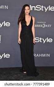 LOS ANGELES - OCT 23:  Christian Serratos arrives for the InStyle Awards on October 23, 2017 in Los Angeles, CA