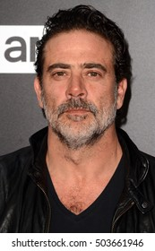 "LOS ANGELES - OCT 23:  Jeffrey Dean Morgan at the AMC's Special Edition of ""Talking Dead"" at Hollywood Forever Cemetary on October 23, 2016 in Los Angeles, CA"