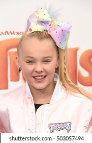 "LOS ANGELES - OCT 23:  JoJo Siwa arrives to the ""Trolls"" Los Angeles Premiere  on October 23, 2016 in Los Angeles, CA"