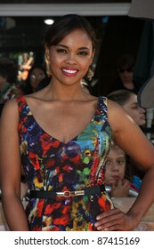"""LOS ANGELES - OCT 23:  Sharon Leal arriving at the """"Puss In Boots"""" Premiere at the Regency Village Theater on October 23, 2011 in Westwood, CA"""