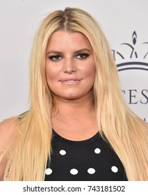 LOS ANGELES - OCT 24:  Jessica Simpson arrives for the 2017 Princess Grace Awards Gala Kick-Off  on October 24, 2017 in Hollywood, CA