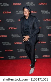 LOS ANGELES - OCT 24: Nick Cannon at The Estate of Michael Jackson and Sony Music present Michael Jackson Scream Halloween Takeover at TCL Chinese Theatre IMAX on October 24, 2017 in Los Angeles, CA