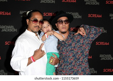 LOS ANGELES - OCT 24: Rich Talaueaga, Tone Talaueaga at Michael Jackson Scream Halloween Takeover at TCL Chinese Theatre IMAX on October 24, 2017 in Los Angeles, California