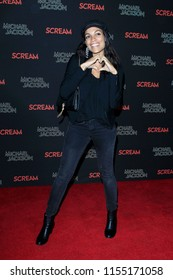LOS ANGELES - OCT 24: Rosario Dawson at The Estate of Michael Jackson and Sony Music present Michael Jackson Scream Halloween Takeover at TCL Chinese Theatre IMAX on October 24, 2017 in Los Angeles