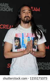 LOS ANGELES - OCT 24: Steve Aoki at The Estate of Michael Jackson and Sony Music present Michael Jackson Scream Halloween Takeover at TCL Chinese Theatre IMAX on October 24, 2017 in Los Angeles, CA